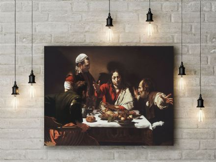 Caravaggio: Supper at Emmaus. Fine Art Canvas.